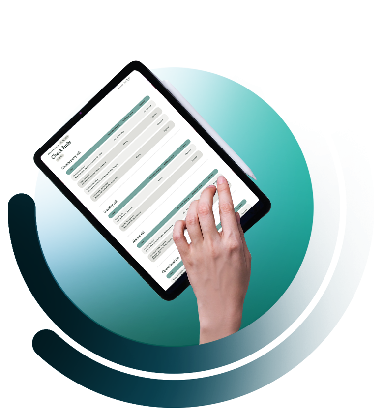 Quantyx software on tablet